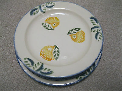 Poole Pottery Lemon design.  Six side plates 18cm
