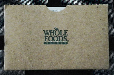 """Whole Foods Gift Card """"go Green"""""""