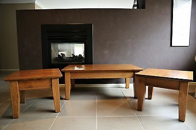 Solid timber Coffee Table & matching Lamp / Side Tables