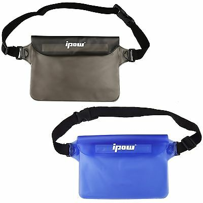 [2 Pack] Ipow Waterproof Pouch Bag Case Waist Strap for Beach Swim Boating Ka...