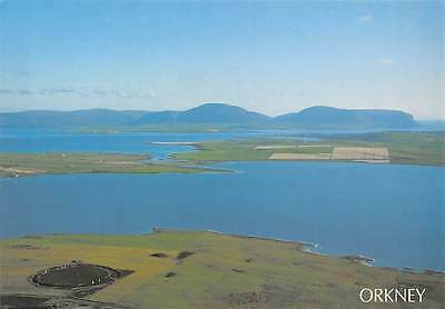 Scotland Orkney Lochs and Hoy Hills, Brodgar, Aerial View Ring of Brodgar