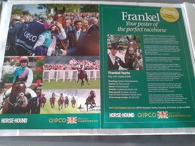 """Poster, """"FRANKEL"""" The Perfect Racehorse"""
