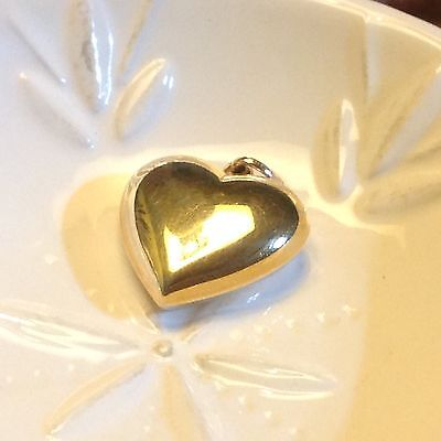 "1"" 9ct Gold Heart Pendant Stamped 375"