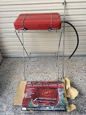 Double Burner Gas Cooker With Stand And Pole For Gas Light