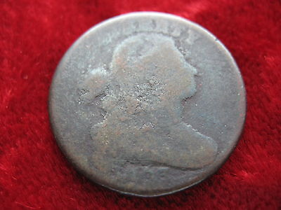1803 U.S. Draped Bust Large Cent DATE MOSTLY SHOWS! EARLY AMERICAN Circulated!