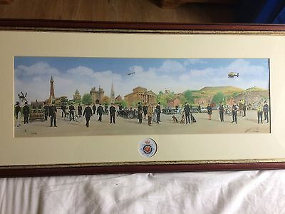 Original Painting Of Police Through The Years Featuring Lancashire Constabulary