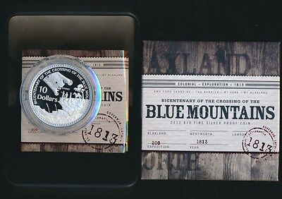 Australia 2013 $10 Blue Mountains 61g Large Silver Coin Issue Price $150