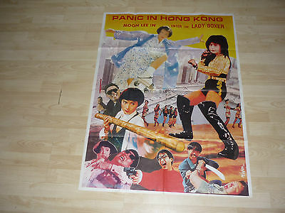 Moon Lee ENTER THE LADY BOXER (THE NOCTURNAL DEMON) LARGE RARE FILM PAPER POSTER