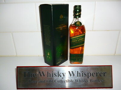 JOHNNIE WALKER 200ml Green Label Scotch Whisky in Box - Rare Item!
