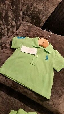 BNWT Ralph Lauren Baby Boy  Lime Green T shirt 6 Months