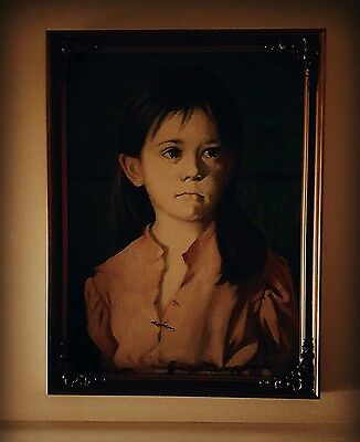 Haunted Painting Crying Child G Bragolin CURSED Paranormal Spirit Dangerous Xmas