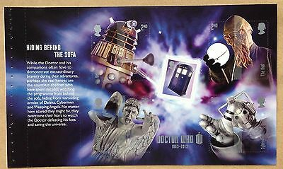 GB DY6  Doctor Who Prestige Booklet Self Adhesive Pane 4 x 2nd, 1 x 1st, NHM
