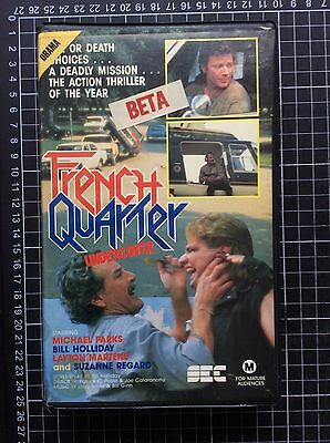 FRENCH QUARTER UNDERCOVER Rare Delta BETA not VHS Video Cult 80s Trash Action.