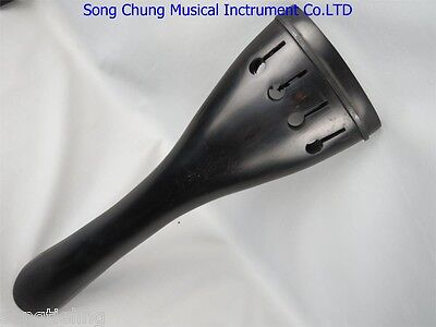 bass part:High quality Ebony blank double bass tailpieces 4/4 with tail gut