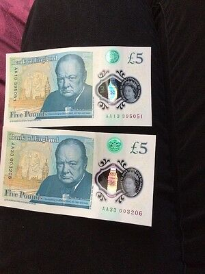 new five pound notes aa
