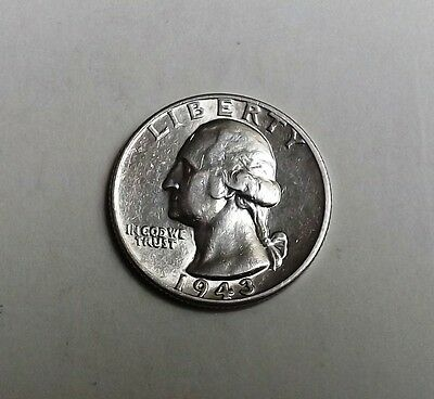 United States 1943 Silver Quarter Dollar Very Nice Condition Nice Rare Coin