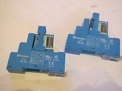 A Pair Of Finder Type 95 05 Relay Holders & 44 62S 24V Dc Relays