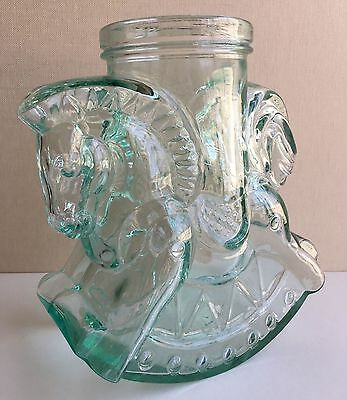 COOKIE / BISCUIT / SWEET Jar - Rocking Horse - Glass - SVE Italy -Excellent Cond