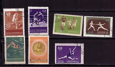 Russia Soviet Union USSR 1956 series  stamps   Spartakiade of the USSR Nations