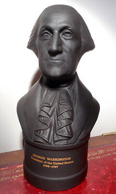 Wedgwood Basalt Bust Of George Washington, With Certificate, In Superb Condition