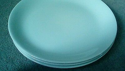 "Retro Poole Ice Green & Seagull 10"" Large Dinner Plates x 3 not twintone vintage"