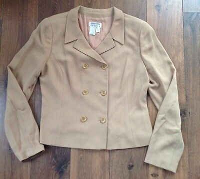 Ladies episode Double Breasted Suit Jacket Brown Size UK14