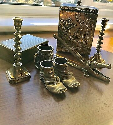 Small Collection of Brassware Items