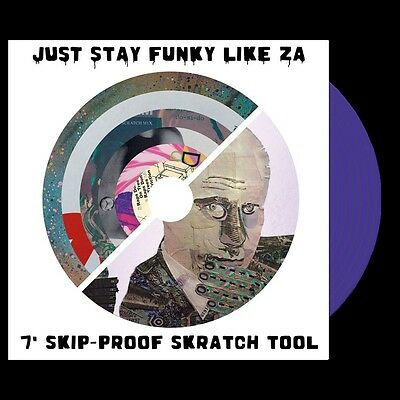 "Just stay Funky Like ZA 7"" Scratch Record Skipless Scratch Sample Vinyl"