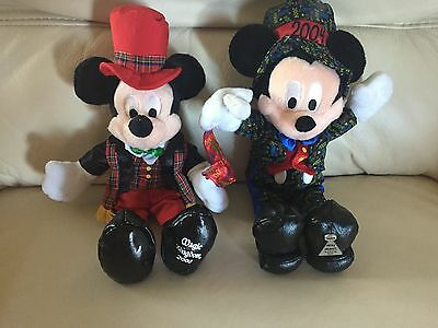 Disney - Two Christmas/New Year Mickey Mouse Soft Toys