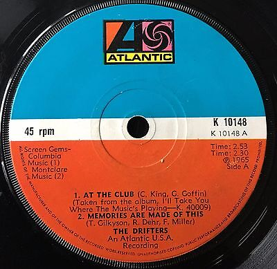 "THE DRIFTERS - AT THE CLUB   ""3 track 7"" vinyl E.P. single"""