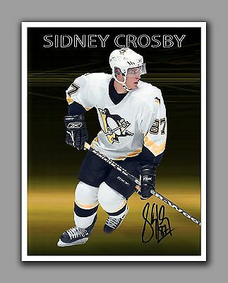 Sidney Crosby Photo Montage, With Autograph, 8.5 by 11 in, Glossy Photo Paper