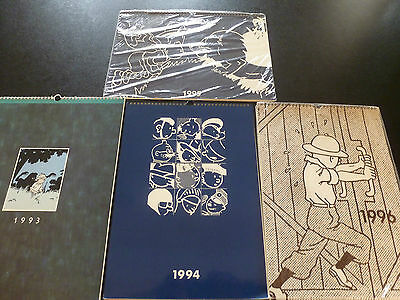 4 Calendriers Tintin Format Luxe 1993 1994 1995 1996