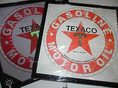 Texaco Gasoline and Motor Oil Light Up Sign Brand New With Box LED