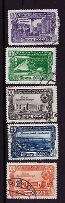 Russia Postage Stamp sc#1420-1424 LH Used cto 1949