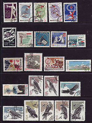 RUSSIA OLD SETS mix USSR CCCP CTO/used 1965