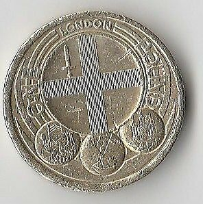 UK Capital Cities - London - £1 One Pound Coin -  minted in 2010