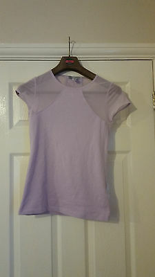 Ladies size 10 lilac Domyos fitness t-shirt