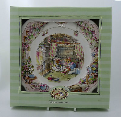 """Royal Doulton Brambly Hedge 2005 8"""" Wall PLate Mint Condition in Box"""
