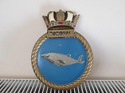 Ships Crest -  Hms Rorqual -  Solid Metal