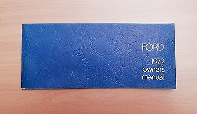 Vintage 1972 Ford Owner's Manual