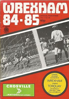Wrexham v Torquay United, 23 March 1985, Division 4