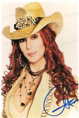 CHER - PERSONALLY SIGNED OFFICIAL 10 X 8 Portrait PHOTOGRAPH Incl. COA