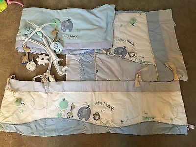 baby boy cot bedding set With Musical Mobile