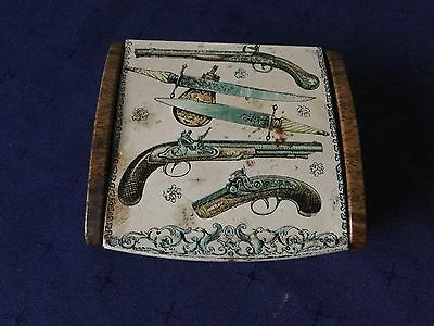 Interesting Collection Of @19th Century Projectiles In A Decorative Tin.