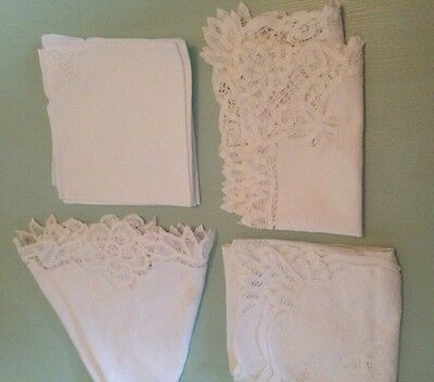Lovely Vintage Bundle White Table Mats And Table Covers