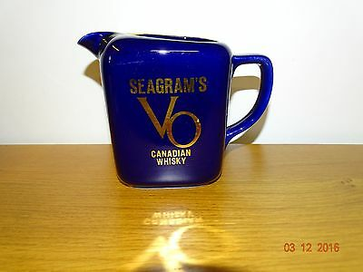 "1Pichet Whisky .  Advertising  Water Jugs  ""seagram's """