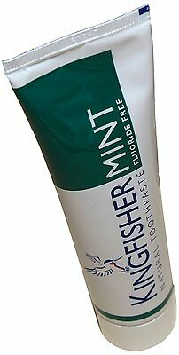 Kingfisher 100 ml Mint Fluoride Free Toothpaste - 3-Pack