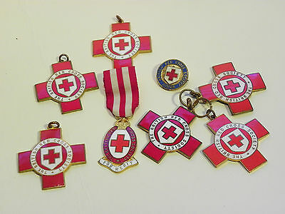 Group of Seven Vintage Named British Red Cross Society Technical Medals