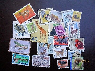 Stamps Thematics Selection Of Animals And Creature Stamps Of The World Low Start