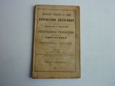 Madame Tussaud's Exhibition Catalogue 1876 Extremely Old